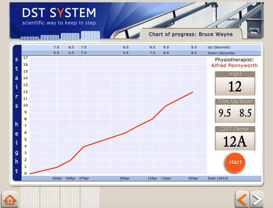 Trappetræning - Dynamic Stair Trainer 8000 Pro Skærmbillede